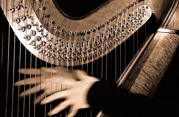 harp hands toned Koncert: Biljana Valčić Bulatović (sopran) i Ljubica Sekulić (harfa)