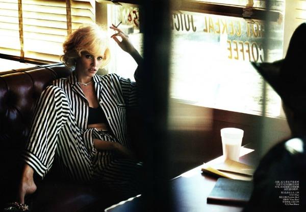 "lara stone4 ""Vogue China"": Lara Stone kao moderna Marilyn"