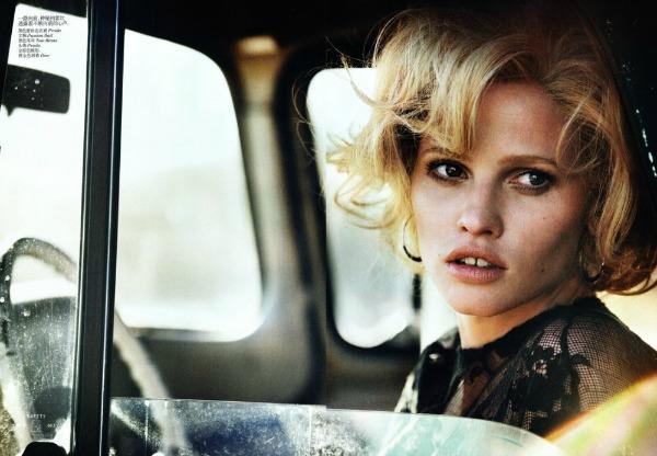 "lara stone5 ""Vogue China"": Lara Stone kao moderna Marilyn"
