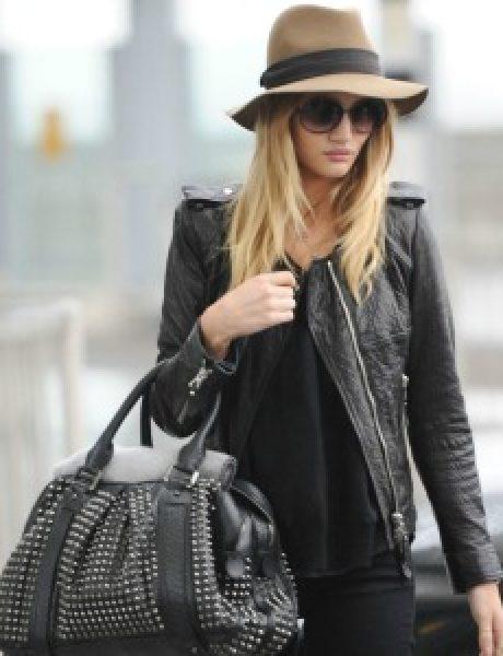 Street Style: Rosie Huntington-Whiteley