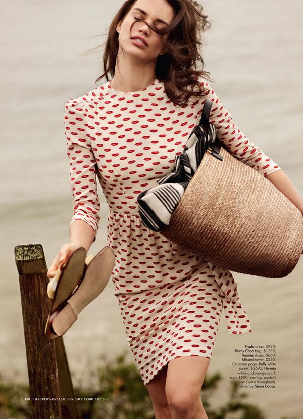 rianne ten haken1 Harper's Bazaar Australia: Na obali stila