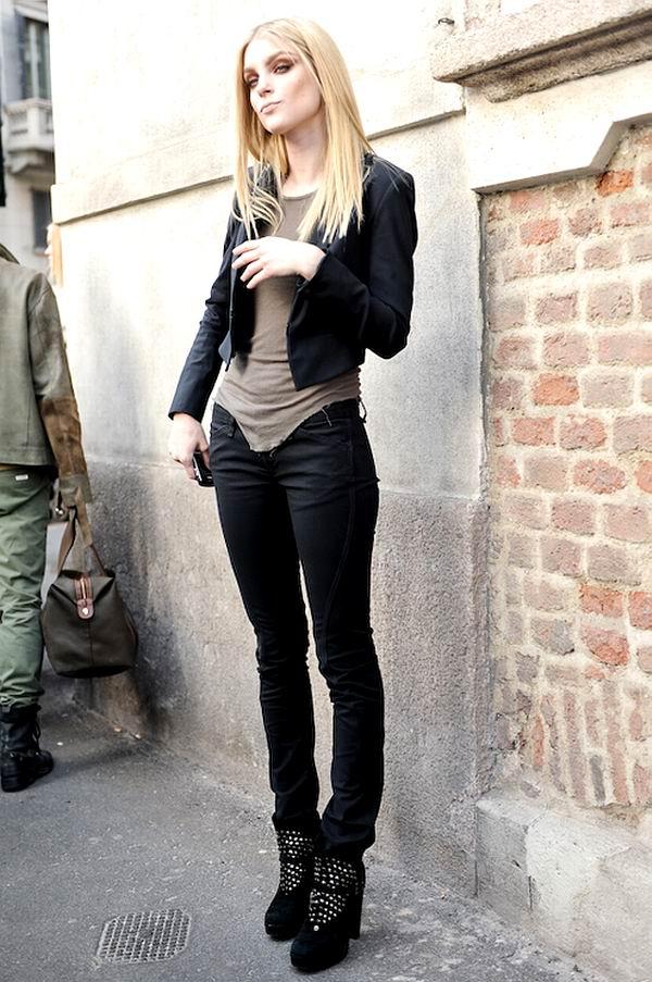slika 53 Street Style: Jessica Stam