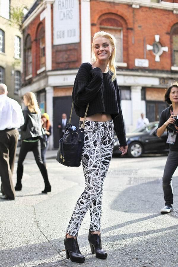 slika 63 Street Style: Jessica Stam