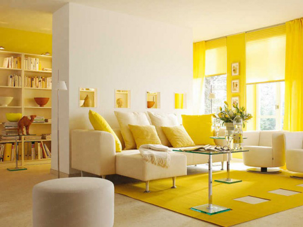 20 Yellow Living Room 665x498 Boje u enterijeru: Žuta