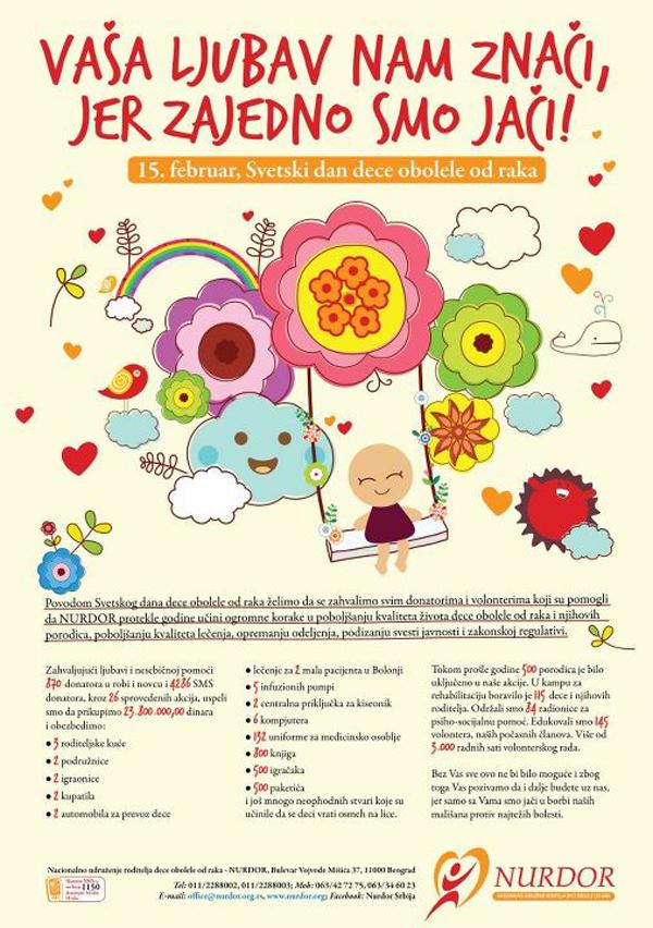 404875 343258879042453 100000750316582 1093365 1656962962 n NURDOR: Svetski dan dece obolele od raka