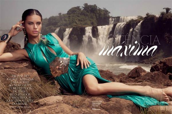 "524 ""Vogue Brasil"": Adriana Lima okupana suncem"