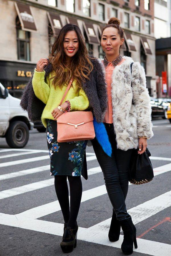 Aimee and Dani GL 13feb12 CL b Street Style: Njujorška nedelja mode