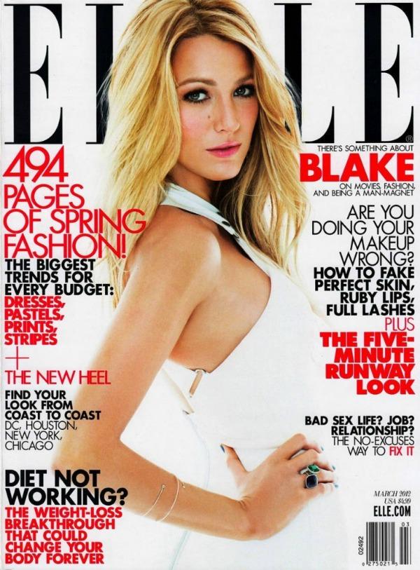 Blake Lively Elle US 1 756x1024 Elle US: Vatrena Blake Lively