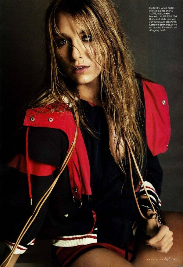 Blake Lively Elle US 3 Elle US: Vatrena Blake Lively