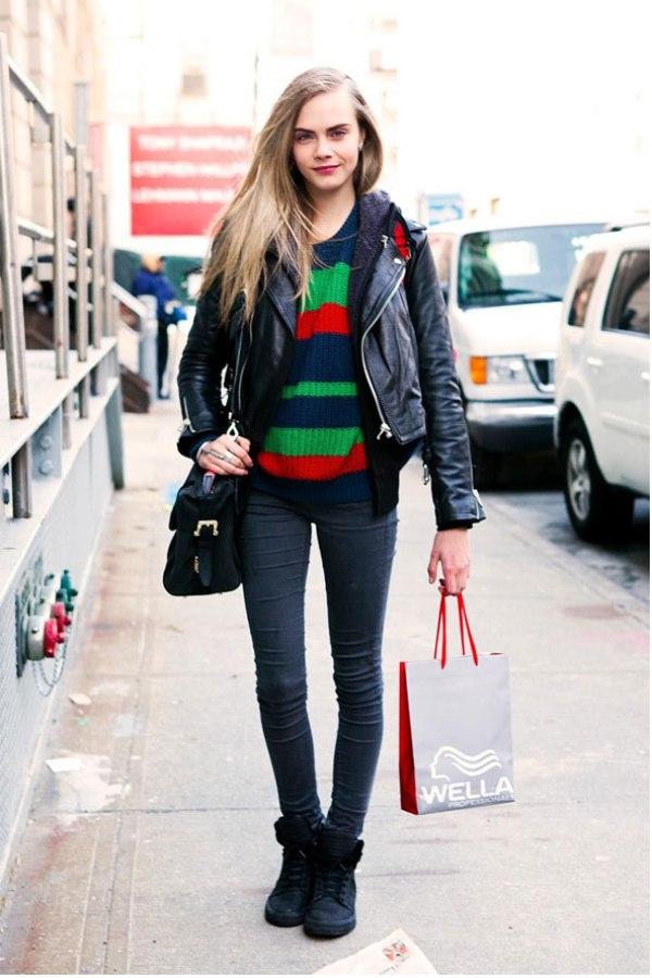 CDelevingne StreetStyle CLa Street Style: Njujorška nedelja mode