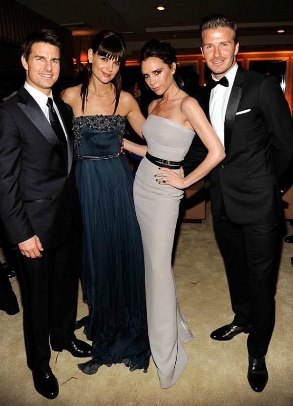 Cruise Holmes Beckham Oscars022612 jpg 072033 Vanity Fair Oscar Party 2012