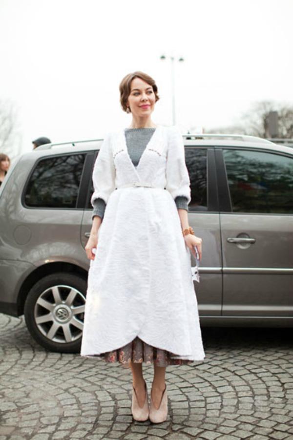 HBZ street style couture 2012 4 lgn Street Style: Ulyana Sergeenko