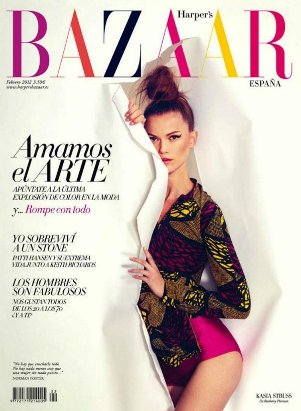 "Kasia Struss Harpers Bazaar Spain 1 752x1024 ""Hapers Bazaar Spain"": Sanjivi portreti"
