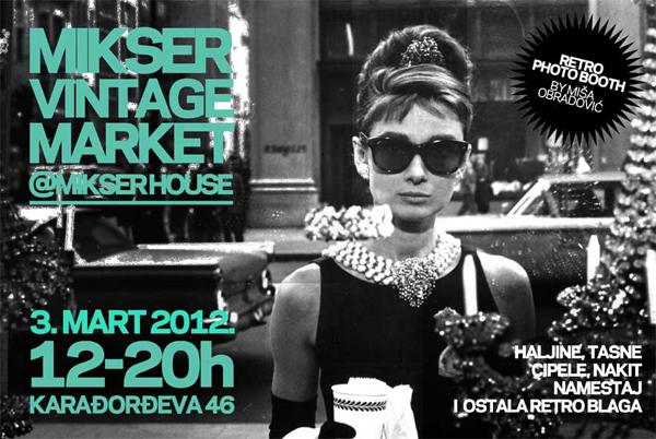 Mikser Vintage Market Pozivnica Mikser Vintage Market
