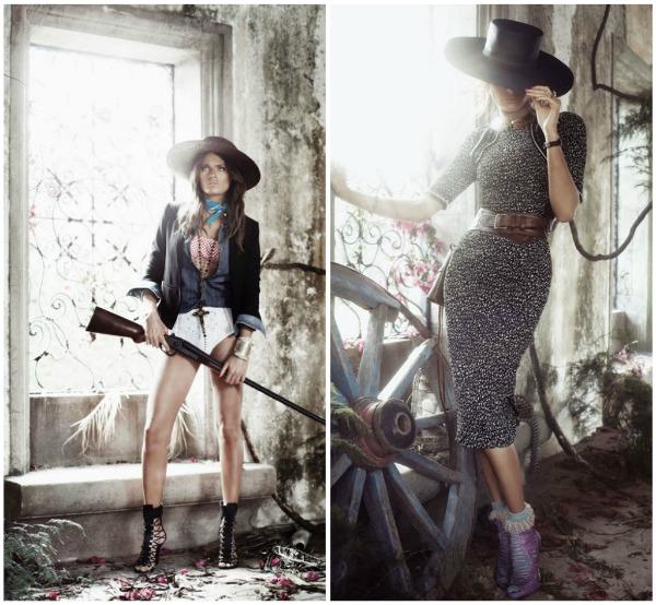 """Picnik collage4 """"Vogue Spain"""": Pištolji i šeširi"""