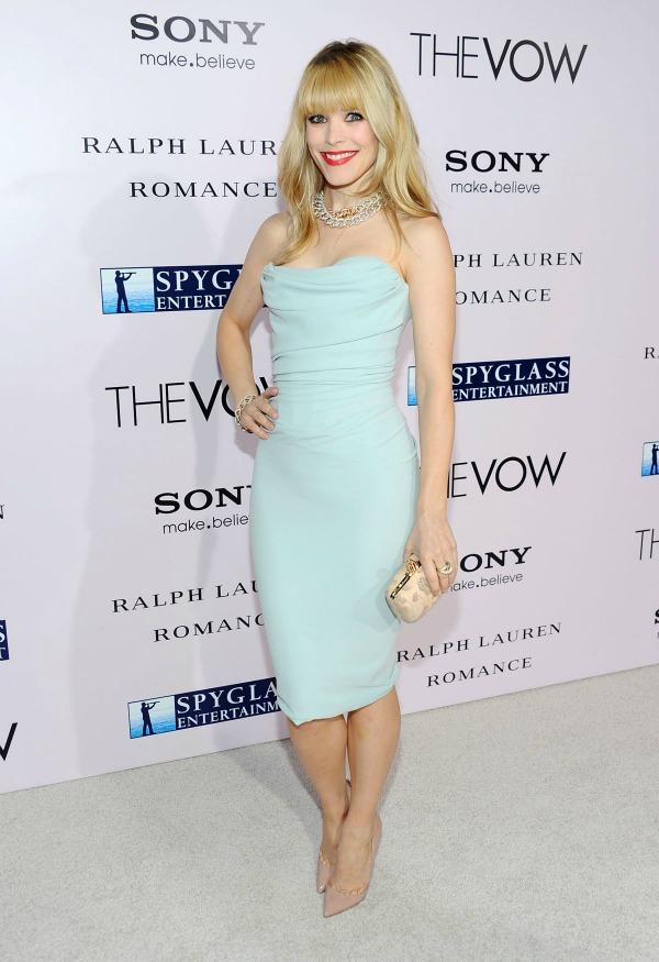 Rachel McAdams At Premieres The Vow Fashion Police: Rooney Mara vs. Beyoncé