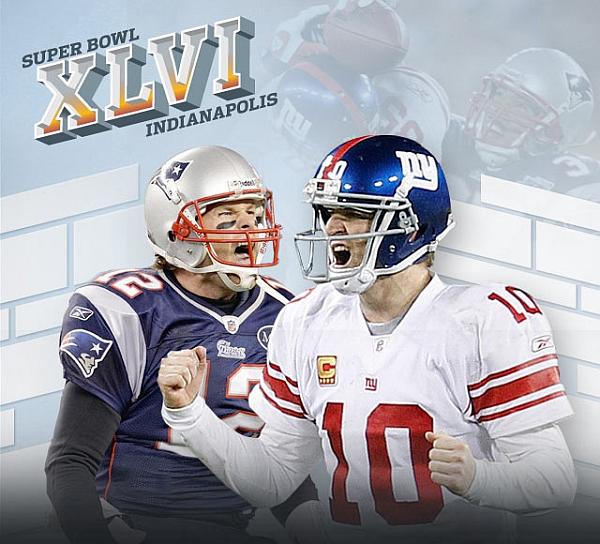 Slika 1 Super Bowl XLVI: New York Giants vs New England Patriots