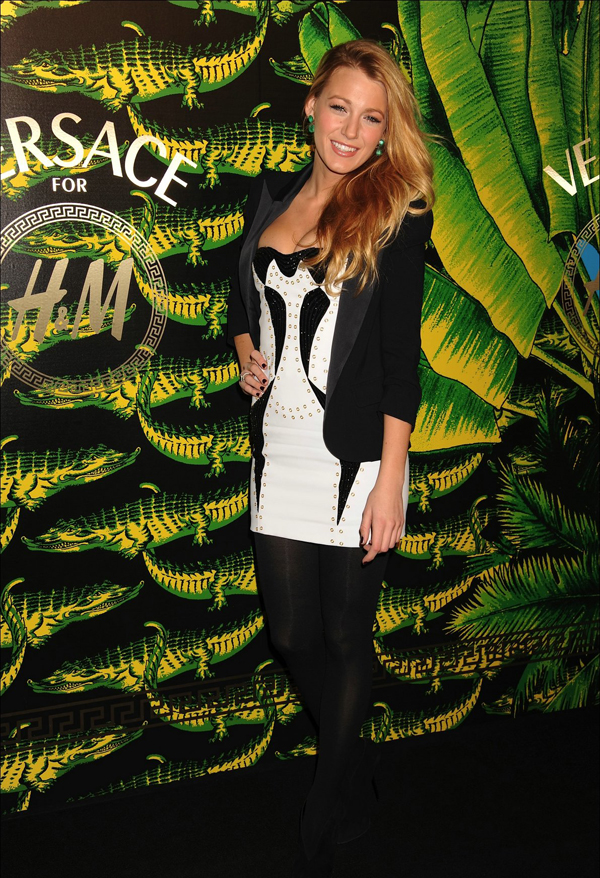 Versace for HM Fashion Launch Party 10 odevnih kombinacija: Blake Lively
