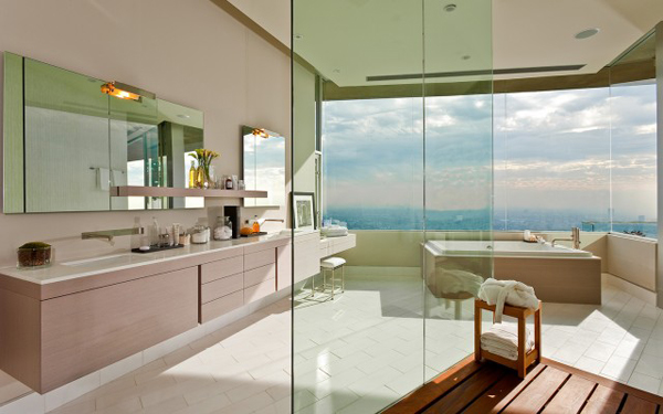 blue jay way bathroom Luksuzna vila u Los Anđelesu