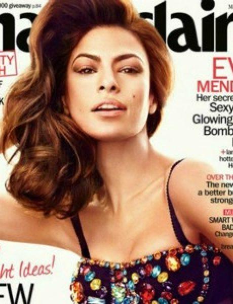 """Modni zalogaji: Izobličena Eva Mendes za """"Marie Claire"""""""