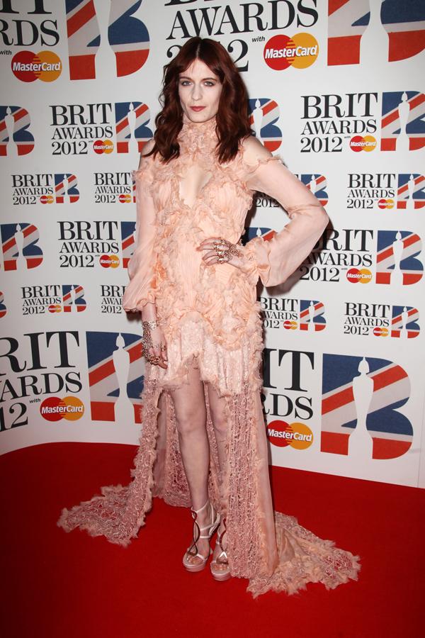 florencemekvin Crveni tepih dodele nagrada BRIT 2012