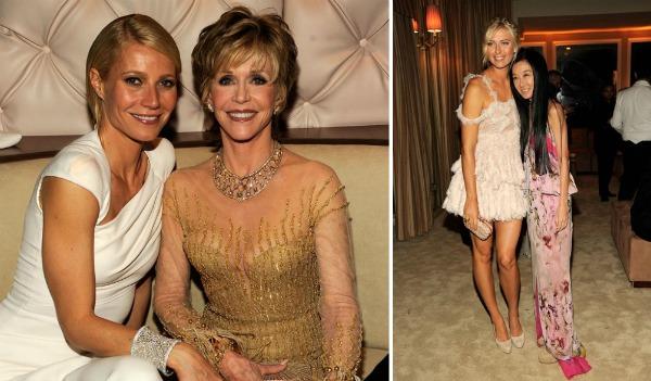 kolazgwynethfondasharapovaverawang Vanity Fair Oscar Party 2012