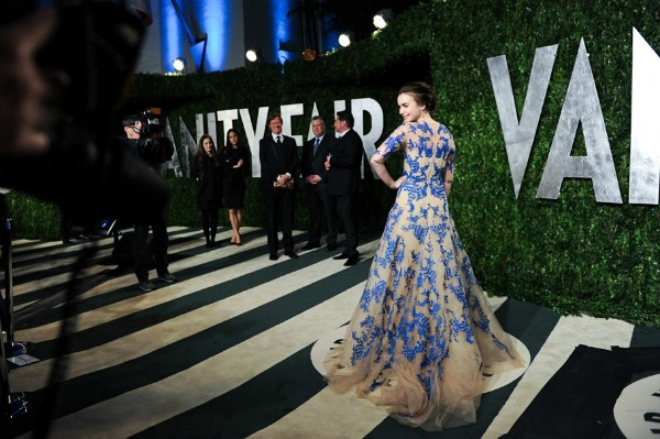 lilycollins Vanity Fair Oscar Party 2012