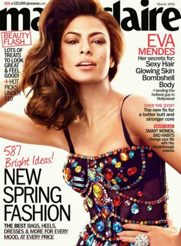 mendesmarie Modni zalogaji: Izobličena Eva Mendes za Marie Claire