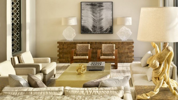 Chic neutral living room 665x373 Viceroy vila: Kada se spoji luksuz i egzotika
