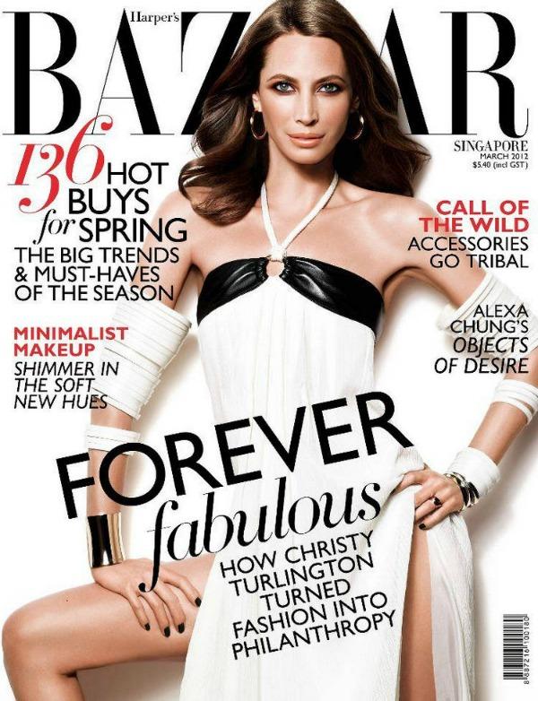 "Christy Turlington Harpers Bazaar 1 ""Harpers Bazaar Singapore"": Večno mlada Christy Turlington"