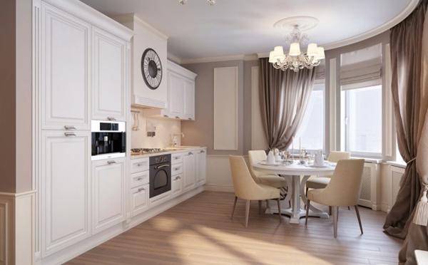 Neutral traditional kitchen diner 665x412 Pastelni apartman