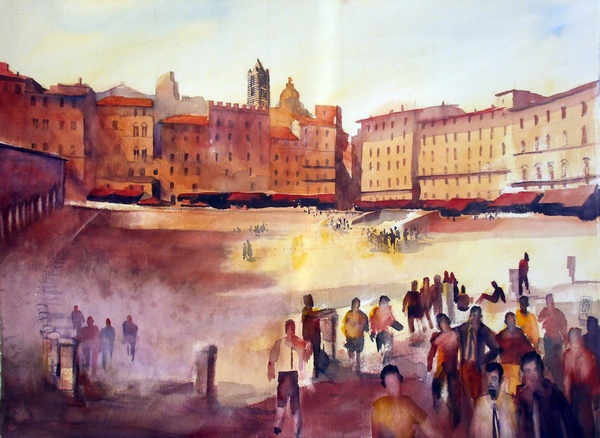 Slika 412 Trk na trg: Piazza del Campo, Sijena