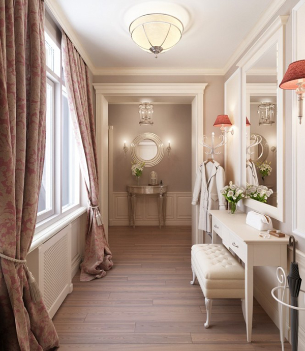 Taditional feminine dressing room 665x765 Pastelni apartman