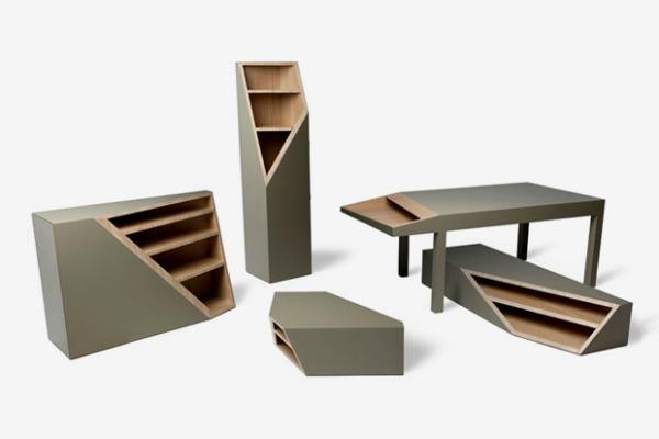 cutline furniture by smooth plane 1 Da Vinci XXI: Čudnovati nameštaj, crvena spirala i žuti krov