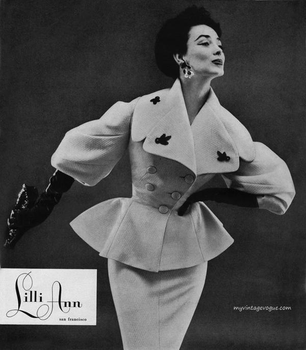 dorian leigh lilli ann 1954 Vintidž moda: Elegantna odela