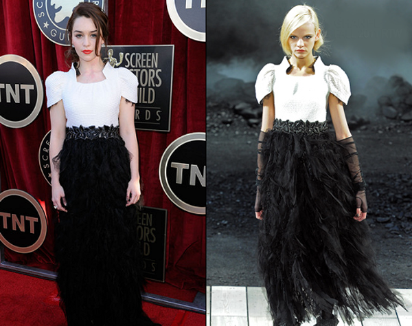 emilia clarke in chanel 2012 sag awards One nose: Chanel