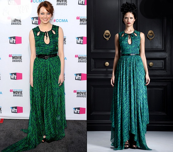 emma stone in jason wu 2012 ccma One nose: Jason Wu