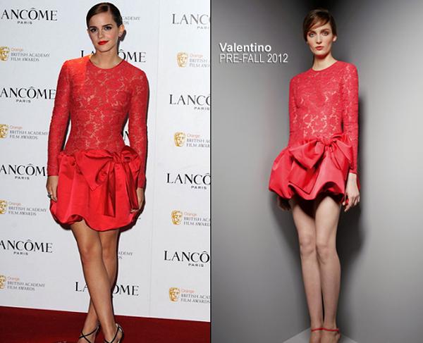 emma watson in valentino lancome pre bafta party One nose: Valentino