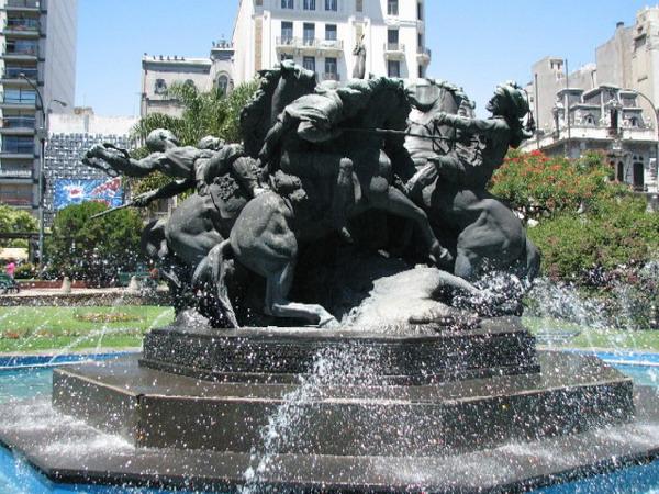 fontana Trk na trg: Plaza del Entrevero, Montevideo