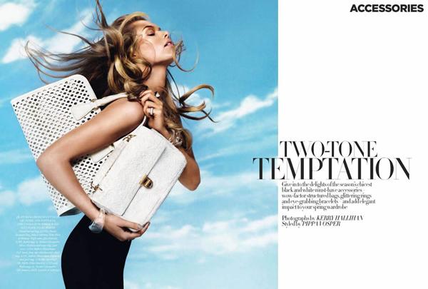 kajsa 2 Harper's Bazaar UK: Klasična lepota