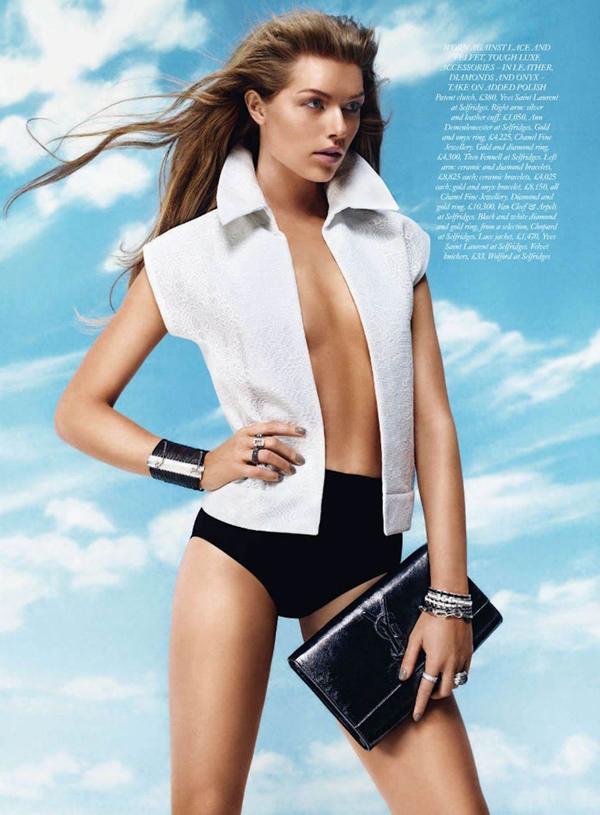 kajsa 3 Harper's Bazaar UK: Klasična lepota
