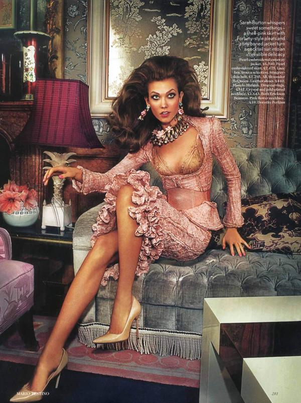 karlie uk 2 Vogue UK : Karlie Kloss u retro izdanju