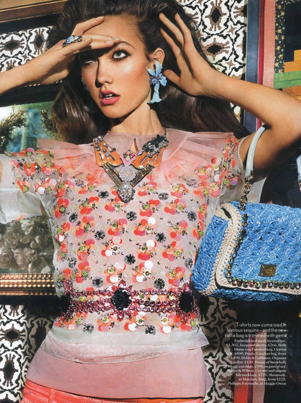 karlie uk 3 Vogue UK : Karlie Kloss u retro izdanju