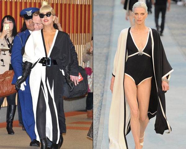 lady gaga in chanel japan airport One nose: Chanel