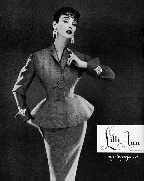 lilli ann 1954 dorian leigh Vintidž moda: Elegantna odela