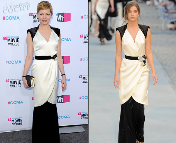 michelle williams in chanel 2012 ccma One nose: Chanel