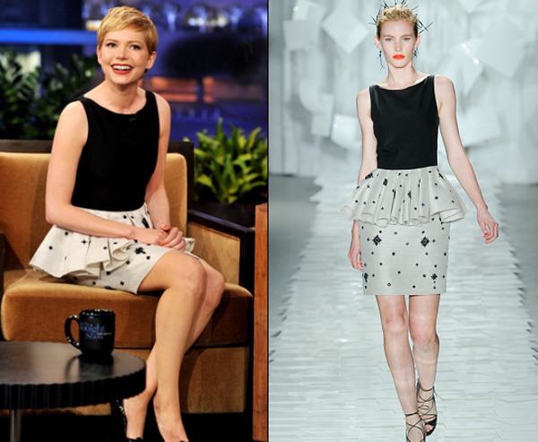michelle williams in jason wu tonight show leno One nose: Jason Wu