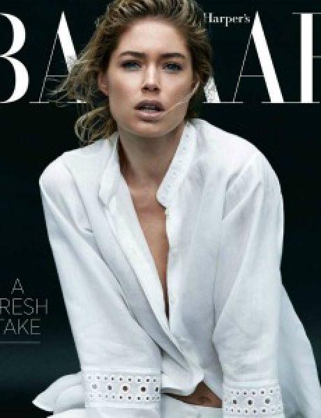 """""""Harper's Bazaar US"""": Zavodljiva Doutzen Kroes u belom"""
