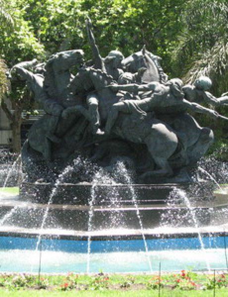 Trk na trg: Plaza del Entrevero, Montevideo