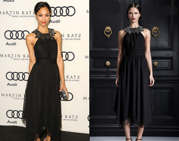 zoe saldana in jason wu kick off globes 2012 One nose: Jason Wu